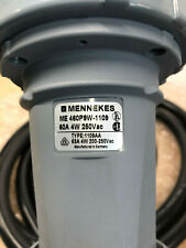 MENNEKES IEC60309 460P9W 3 PHASE 4 WIRE 250V 60A WATERTIGHT PLUG WITH WHIP QTY