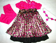 Party Short Sleeve 100% Silk Dresses (2-16 Years) for Girls