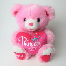 """2016 Dan Dee Sweetheart Teddy Pink Princess Heart Large Plush Stuffed Animal 19"""""""