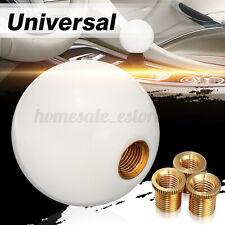 White Universal Car Round Ball Resin Gear Shift Knob Stick Shifter Lever USA