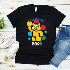 Spotty Pudsey Bear Kids T Shirt Charity Children In Need Dotty Spot Mens Top Tee