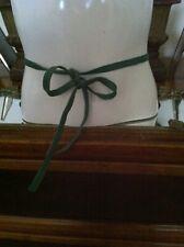 Vtg 1960's Bonnie Cashin Green Tie Belt