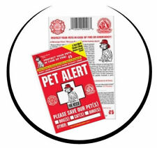 New listing Pet Safety Alert Cling Window Decal Fire Rescue Rover Sticker Dog Emergency 2 pk