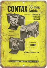 """Contax 35 mm Film Camera Contessa Contina 10"""" x 7"""" reproduction metal sign"""