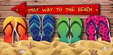 30x60 Large Sandal Flip Flop Sand Sea Cruise Vacation Pool Gift Bath Beach Towel