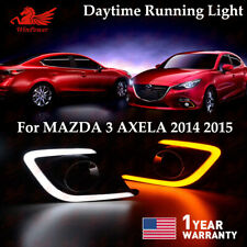 LED Daytime Running Light For Mazda 3 Axela Fog Lamp Mazda3 DRL Light 2014-2015
