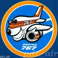 SMILE VINTAGE BOEING 767 TWINJET AIRLINER LIVERY STICKER