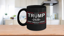 Trump 2020 | MAGA | Black Coffee Mug