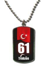 Kette Dog Tag Anhänger Türkei Trabzon 61 Türkiye Plaka