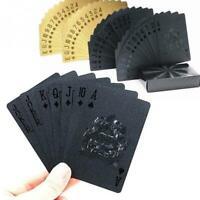 24K Gold Playing Cards Poker Game Deck Gold Foil Poker Set Plastic Magic Card Wa