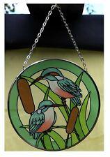 Birds in the garden glass sun catcher