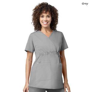 WonderWink Scrubs WORK Women's Medical Maternity Mock Wrap Top 145