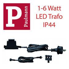 Paulmann 987.59 - LED Betriebsgerät IP44 inkl. 3er SV schwarz LED Trafo Transfo