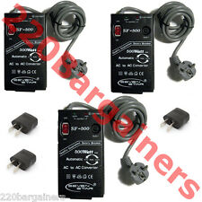 SF500 110-220 Volt 500 Watt Automatic AC Voltage Converter - 3 PACK!