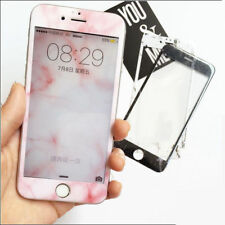 Marble design Soft Case + Screen Protector Tempered Glass For iPhone 7 6S 6 Plus