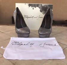 ELIZABETH AND JAMES  E-MASON1  PEWTER METALLIC LEATHER PUMPS SHOE Size 9