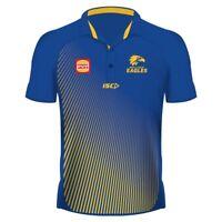 West Coast Eagles 2019 Sublimated Polo Shirt Sizes S - 5XL Royal/Gold AFL ISC