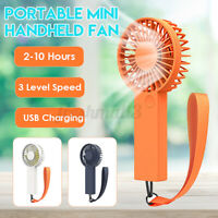 Mini Portable Hand-held Desk USB Fan Cooler Cooling Air Conditioner + Battery