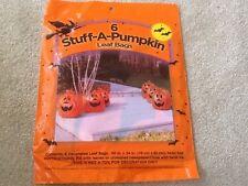 NIP! Halloween Decoration Six 6 Stuff A Pumpkin Yard Leaf Bags