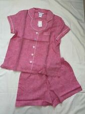 The Company Store Pajama Set Pink L Women's NWT NEW 100% LINEN (CM)