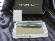 Frontgate Elegant Crystals Guest Towel Tray With Faux Linen Towels Mint In Box