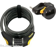 OnGuard 8031 Doberman 6' x 12mm Combination Bike Cable Lock Reset fit Kryptonite