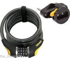 OnGuard 8031 Doberman 6' x 12mm Combination Bike Cable Lock Reset fit Kryptonite
