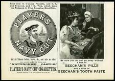 1893 Antique Print - ADVERTISING Players Navy Cut Beechams Pills Toothpaste (69)