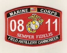 US MARINE 0811 MOS field artillery cannoneer  semper fidel Military RATING Patch