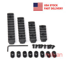 US Polymer 4 Picatinny Weaver 20mm Rail Section Base Fits M-LOK Hand Guard Black