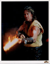 Kevin Sorbo Hercules burning pole 8X10 litho photo A Star to Guide Them Xena