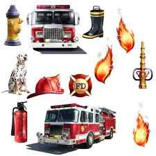 Fire Department Fighter Fireman Wall Decal Sticker Fat Head Firetruck Engine NEW
