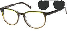 Original Penguin The Teter Men's Handmade Eyeglasses w/ Polarized Clip-On Shade