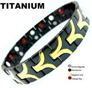 TITANIUM Magnetic Energy  Armband Power Bracelet Health Bio 4in1 Bio