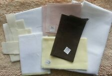 Mixed lot counted cross stitch fabric. Variety of sizes, colors, & thread count.
