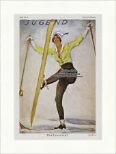 Titelseite der Nummer 2 von 1925 Paul Rieth Frau Ski Schnee Berge Jugend 4425