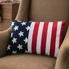 American Flag Lumbar Patriotic Pillow Covers Fourth of July