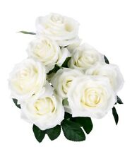 SOLEDI 10 Head French Rose Silk Flower Arrangement Artificial Fake Bouquet Weddi