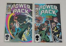 LOT OF 2 Marvel Comics Power Pack #5, 21 Spider Man