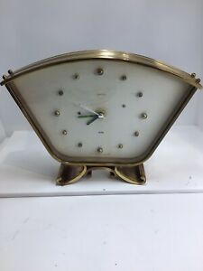 Vintage Brass Art Deco Mantle Clock- Modified With Battery