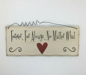 Forever for always Hanging Plaque Wedding Wooden Wall Married Gift Idea Novelty