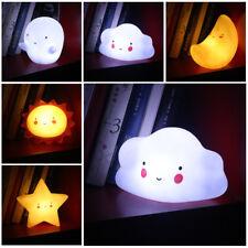 nuage étoile soleil enfants bébé portable blanc chaud lumière LED de nuit lampe