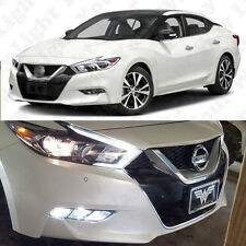 4x 6000k White H16 LED Fog Light Bulbs for 2016 2017 Nissan Maxima Total 2800LM