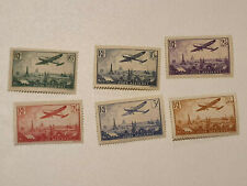 France Lot 6 Timbres PA Poste aérienne neuf** N° au N°13 Luxe AGO 1936