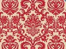 "Red Flourish on Kraft Backdrop Gift Wrap Tissue Paper 20"" X 30""  10 LARGE Sheets"