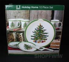 Lindsey Jordan Holiday Home 10-pc Christmas Holiday Cake Dish Set New In Box