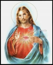 SACRED HEART OF JESUS  8x10 Gold Embossed Art Print Picture Printed in Italy