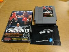 Mike Tyson's Punch-Out!! NINTENDO NES GAME/BOX/MANUAL, CIB Circle Seal. Rev-A