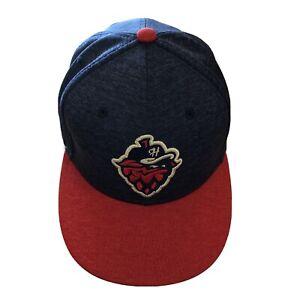 Hillsboro Hops USA Logo Fitted 7 3/8 New Era Minor League Baseball Hat Cap