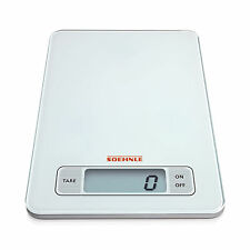 Soehnle White Digital Glass KITCHEN SCALE Touch Electronic LCD Weighing Postal